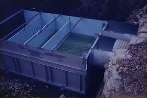 現地流量測定槽(三角堰付)