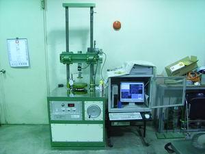 100kN電動サーボ式圧縮試験装置